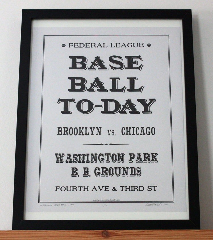 This one really takes you back, all the way to the Federal League. An ideal gift for the gent who waxes his moustache and laments the designated hitter.