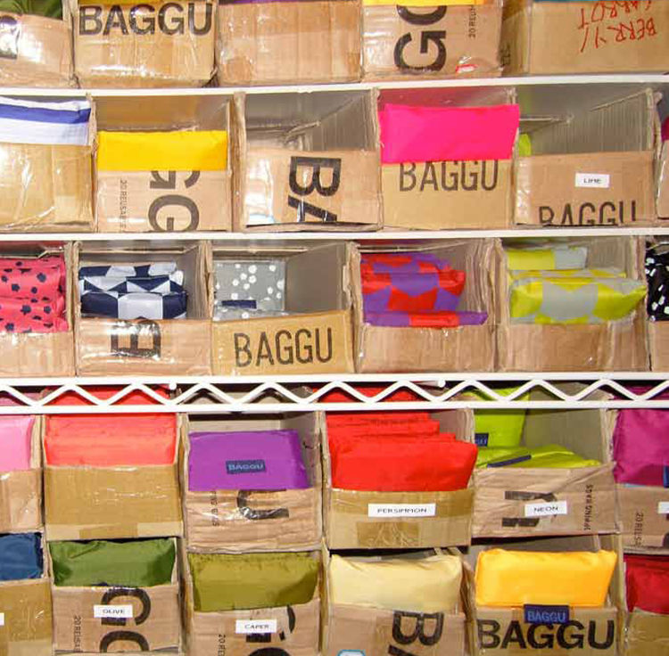 "Baggu is the result of a mother-daughter collaboration to make a dent in reducing the use of plastic bags. Their reusable bags are on sale at <a href=""http://baggubag.com/"">baggubag.com</a>."