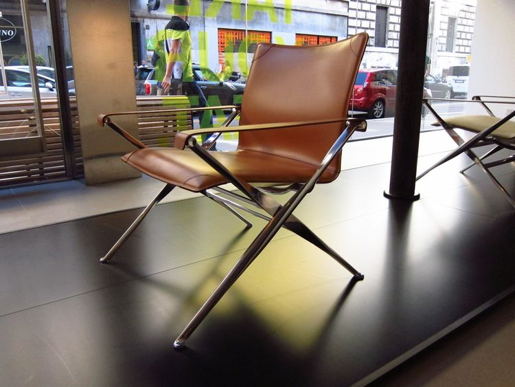 With nods to both the Eames aluminum group and Poul Kjaerholm's PK91 folding stool, Antonio Citterio's new Beverley chair for B&B Italia felt like it was descended from design royalty.