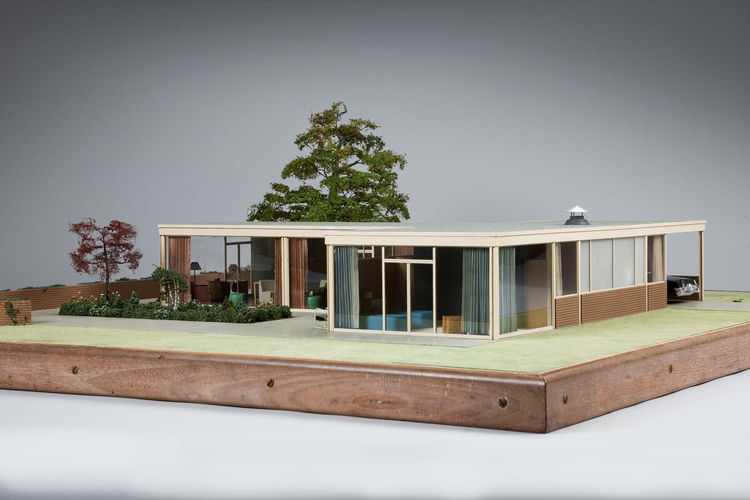 """<i>House for """"Woman's Home Companion""""</i> (1948, mixed media), by architect A. James Speyer and model maker Theodore Conrad. On view through May 30, 2010, at the Carnegie Museum of Art as part of the <a href=""""http://www.cmoa.org/exhibitions/exhibit.asp""""><"""