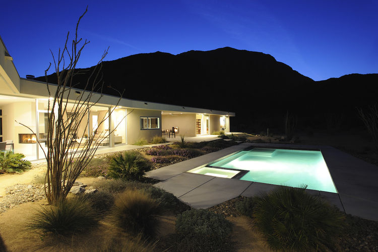 We also got a look at a contemporary house from 2008 by architect Walt Chambers. The home has a strong reverence for the mid-century vibes of the town, and with little between it and the desert floor (save the pool, of course) you really do feel like you'