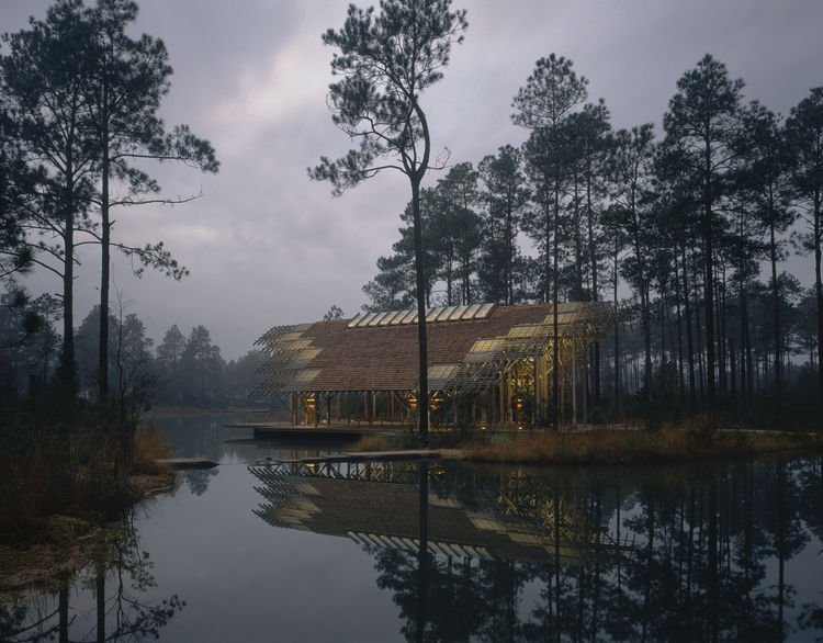 Fay Jones' stunning Pinecote Pavilion is party of the Crosby Arboretum in Picayune, Mississippi. Photo courtesy of Timothy Hursley.
