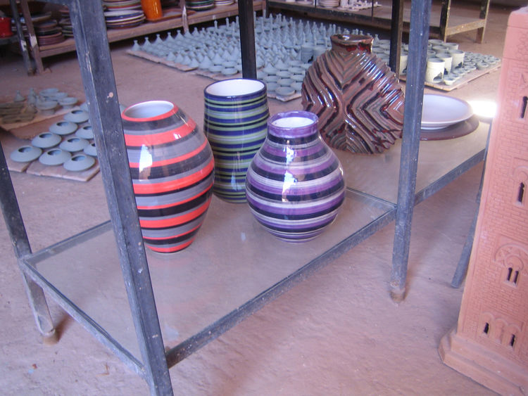 These striped pots were made for a Paul Smith clothing store in Brussels.