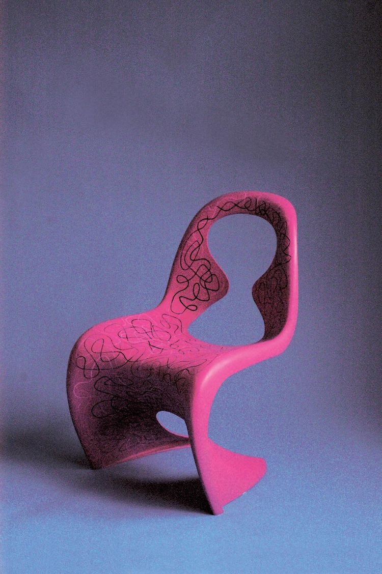 Karim Rashid's (who earned his Bachelor of Industrial Design in 1982 from Carleton University in Ottawa) redesigned S Chair.
