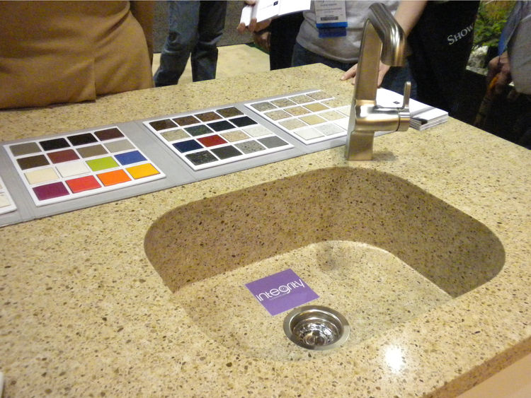 "In addition to its eco-line, <a href=""http://www.cosentinonorthamerica.com/"">Cosentino</a> displayed its new Integrity sink that creates a uniform look with the counter and is available in over 80 colors."