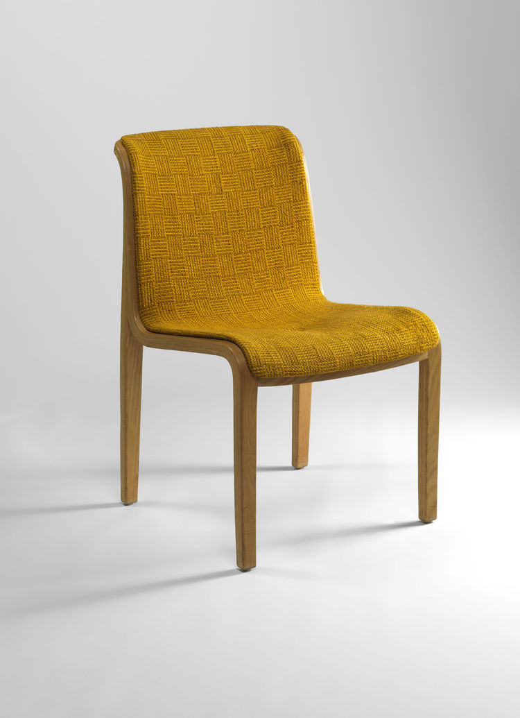 This Stephens side chair by Williams Stephens dates to the early 1970s and is upholstered with the Inca textile by Sheila Hicks.