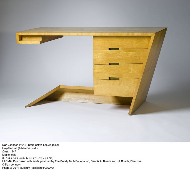 Dan Johnson's 1947 desk is a perfect example of how American modernism often split the difference between clean forms and the speedy streamlining of the era.