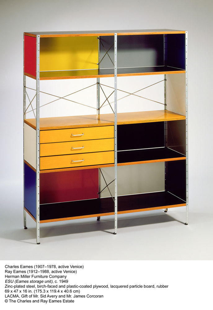 A classic of colorful Californian design, this storage unit by Charles and Ray Eames for Herman Miller dates from the late 40s but it looks as good as ever today.