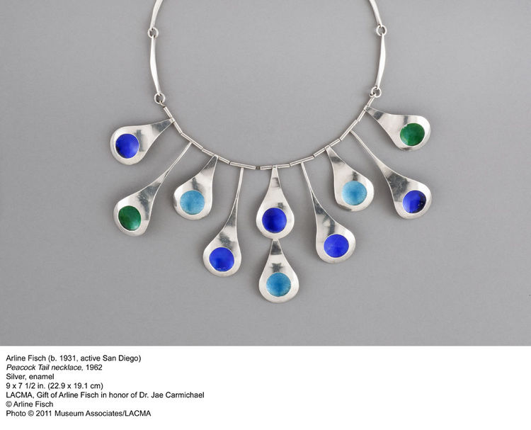 Arline Fisch's 1962 peacock necklace is a lovely bit of mid-century design.