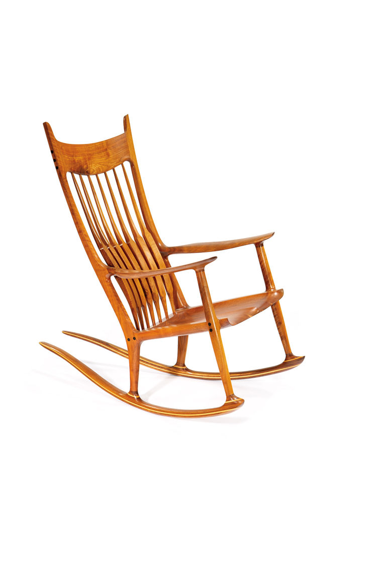 Signature rocker (1986-1989) by woodworking icon and celebrated furnituremaker Sam Maloof. Sold with original receipt and a signed copy of book <i>Sam Maloof: Woodworker</i>.