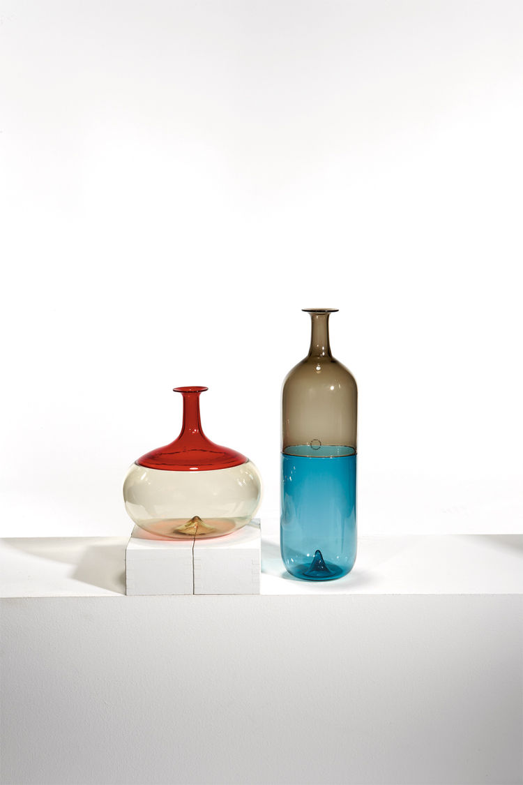 "A pair of ""Incalmo"" bolle vases by Finnish master Tapio Wirkkala, which were commissioned by Venini (2002)."