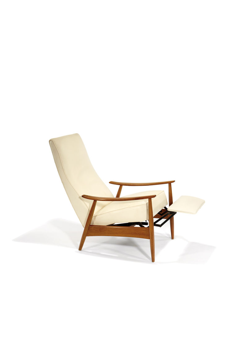 A Milo Baughman recliner, from his prolific association with Thayer Coggin, designed circa 1959.