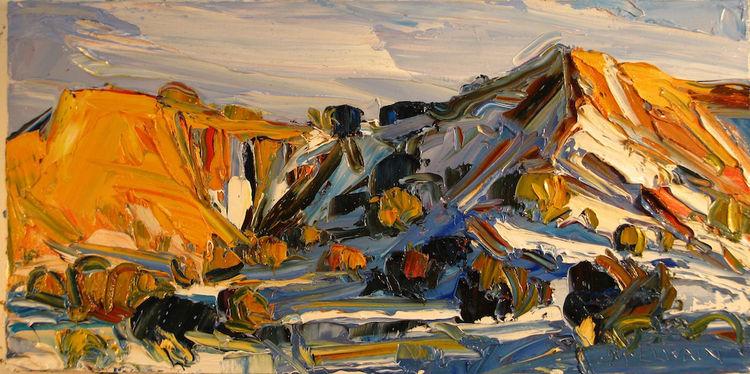 Badlands, Snowshadows by Louisa McElwain