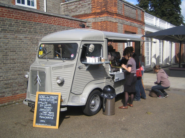 I loved this truck converted to a small coffee stand just outside the Serpentine Gallery.