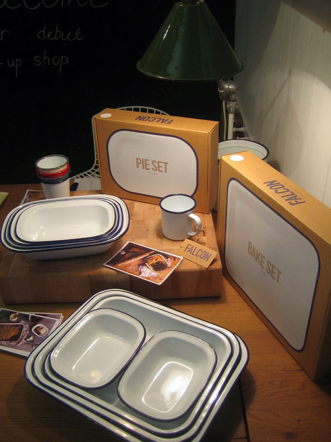 Another Tramshed highlight was this set of enamelware from Falcon. The brand, which has been around since the 20s, is getting an update and a bit of a revival. I loved the homey, nostalgic quality of these bake sets and bought a quartet of cups for myself