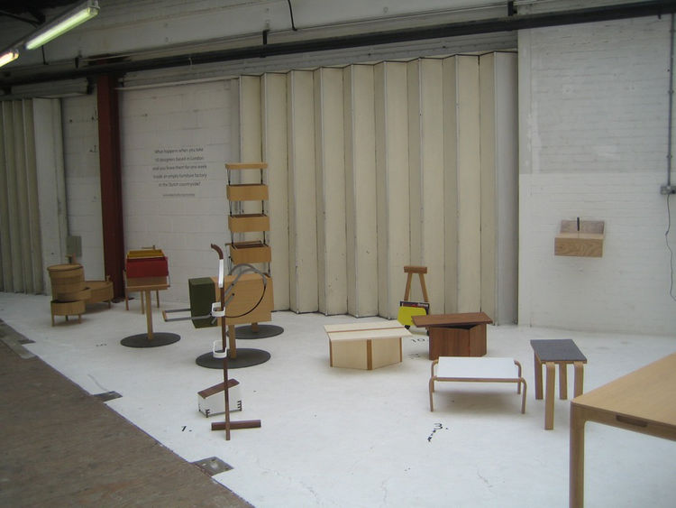 "Now back in the Brompton action, I visited a pop-up exhibition by <a href=""http://www.okaystudio.org/"">Okay Studio</a>, which claimed to show what happens when a bunch of British designers get left alone in a Dutch woodworking factory. The space of the sh"