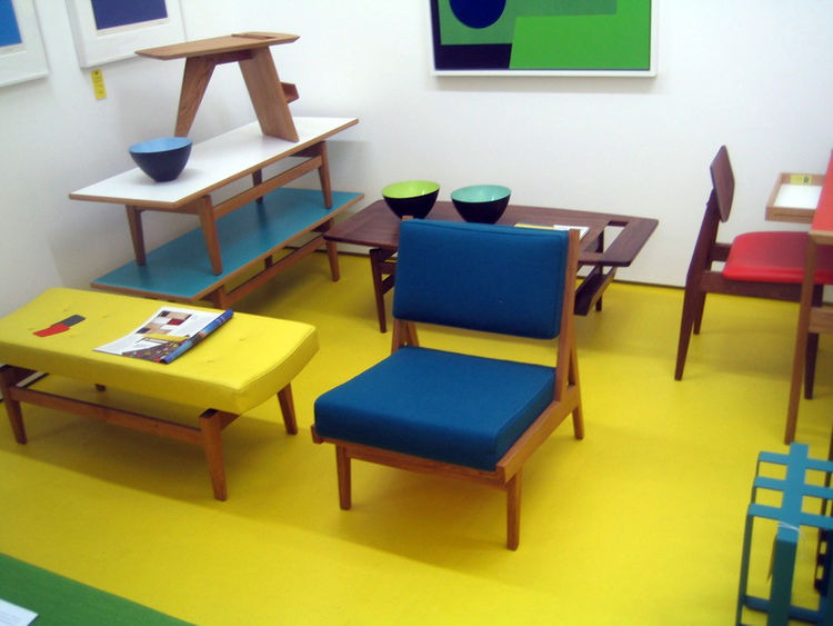 "Though I'd been seeing loads of contemporary design, I wanted to make a special stop into <a href=""http://rocketgallery.com/"">Rocket Gallery</a> for some mid-century action. I was not disappointed with this room dedicated to the work of <a href=""http://ww"