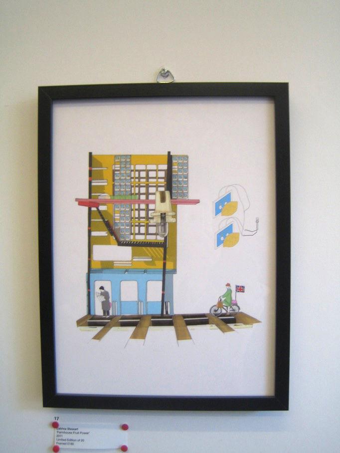 "This print by <a href=""http://www.catrinastewart.com/"">Catrina Stewart</a> called ""Farmhouse Fruit Power"" was my favorite."