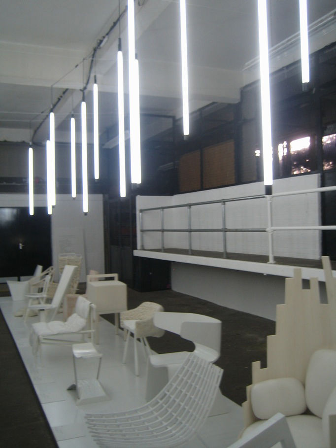 "Another great furniture exhibit was Whiteout put on by the Danish Cabinetmakers. In it I saw 38 prototypes for chairs, each a shade of white. The head of the show, Thomas Alken of <a href=""http://www.formatdesign.dk/"">Format Design</a>, told me that some"