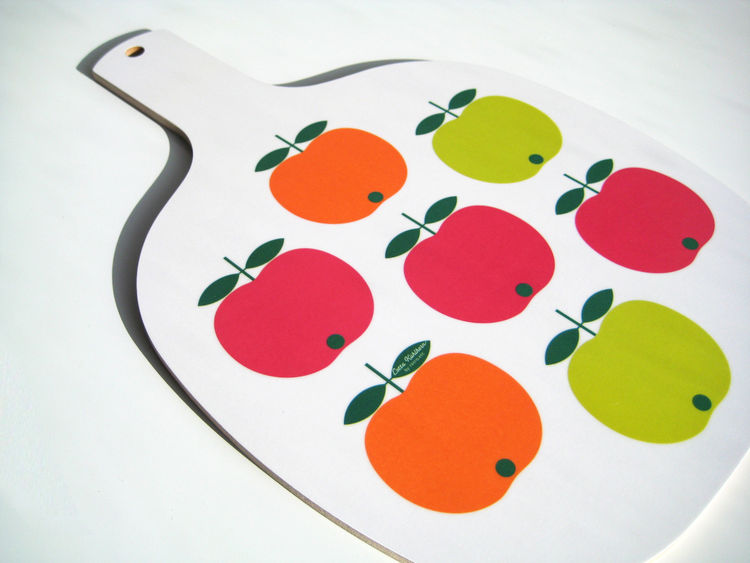 Cutting board, mixed apples, by Lotta Kühlhorn