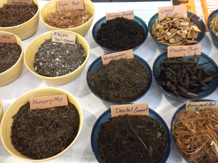 """Also among the mix of booths was <a href=""""http://www.lyngsogarden.com/"""">Lyngsø Garden Materials</a>, based in Redwood City, California. In addition to mulches, soils, and rocks, the company also showed off its Diestel Structured Compost, an organic mix th"""