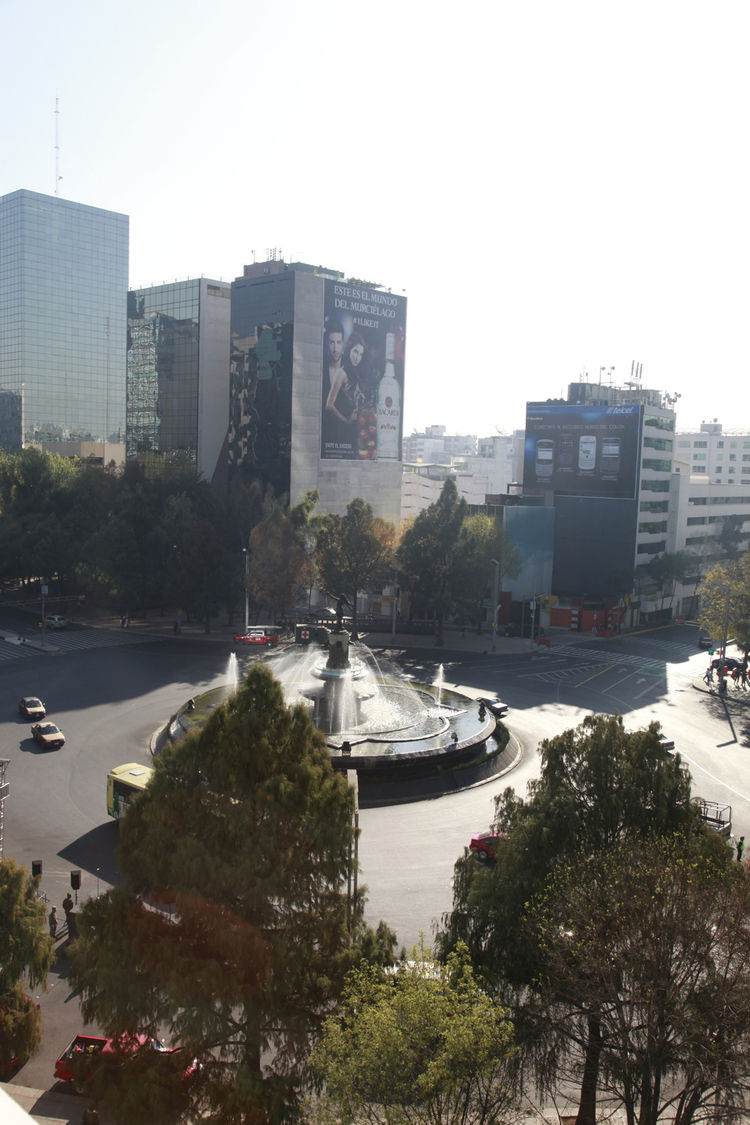 Reforma has a number of pretty traffic circles. This one has a sculpture of the goddess Diana.