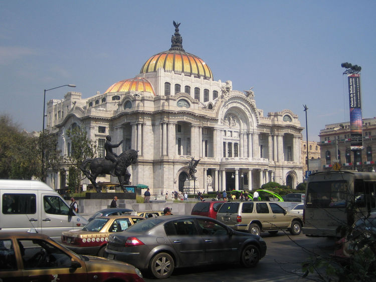 Once we got to the Centro of Mexico City, Alex and I had a quick walk around. One stop was the Palacio des Bellas Artes, notable not just for the architecture, but for a series of murals inside, including one by Diego Rivera.