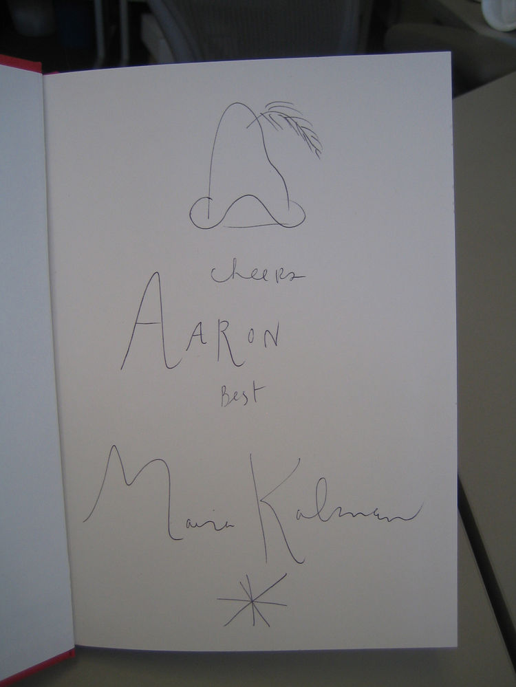 I asked Maira to sign my copy of The Elements of Style and she made this charming little drawing of a hat for me!