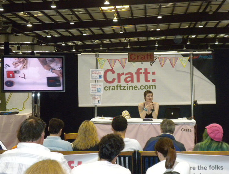 "Throughout Saturday and Sunday, <i>Make</i> and its sister publication <a href=""http://craftzine.com/""><i>Craft</i></a> hosted demonstrations. Though much of the festival featured technology-based projects, there was a large area dedicated to fabrics, clo"