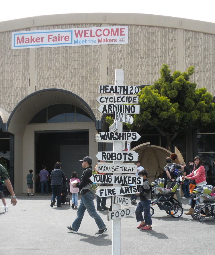 There was something for everyone at Maker Faire. Areas were grouped by theme such as solar vehicles, homegrown, steampunk, digital sounds, robots, crafts, and more.
