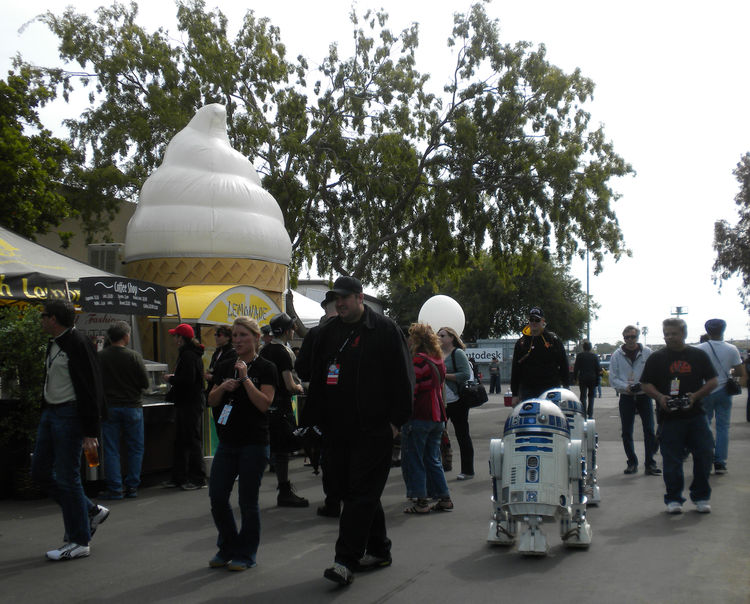 "Members of <a href=""http://astromech.net/"">Astromech</a> were zooming their hand-built R2-D2s around the festival space to the delight of children—and many adults—in attendance. The carnival food gave the event a real fair-like feel."