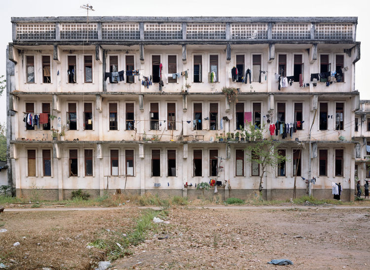 A view of the dorms at the National Polytechnic Institute in Vientiane. Built in 1984 with the help of Soviet engineers, these dorms accommodate students from around the country who come to study in Vientiane. Rooms have four to six bunk beds; bathrooms a