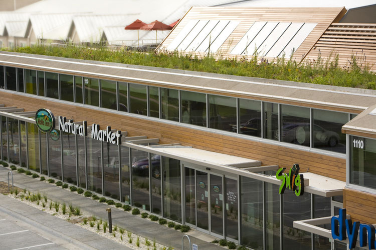 The Green Circle Shopping Center in Springfield, Missouri, has a green roof for customers and employees to use, saved a myriad of trees in how it was sited and makes use of geothermal energy. Hufft expects it will get a LEED Platinum certification.