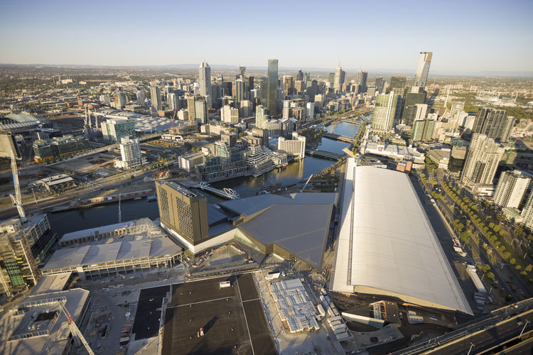 "If the Melbourne Convention Center is to truly integrate into the architectural life of the city, it's certainly pointing in the right direction. Instead of being, as Lyon says, ""a utilitarian beer barn or sports stadium thing on the edge of town,"" this o"