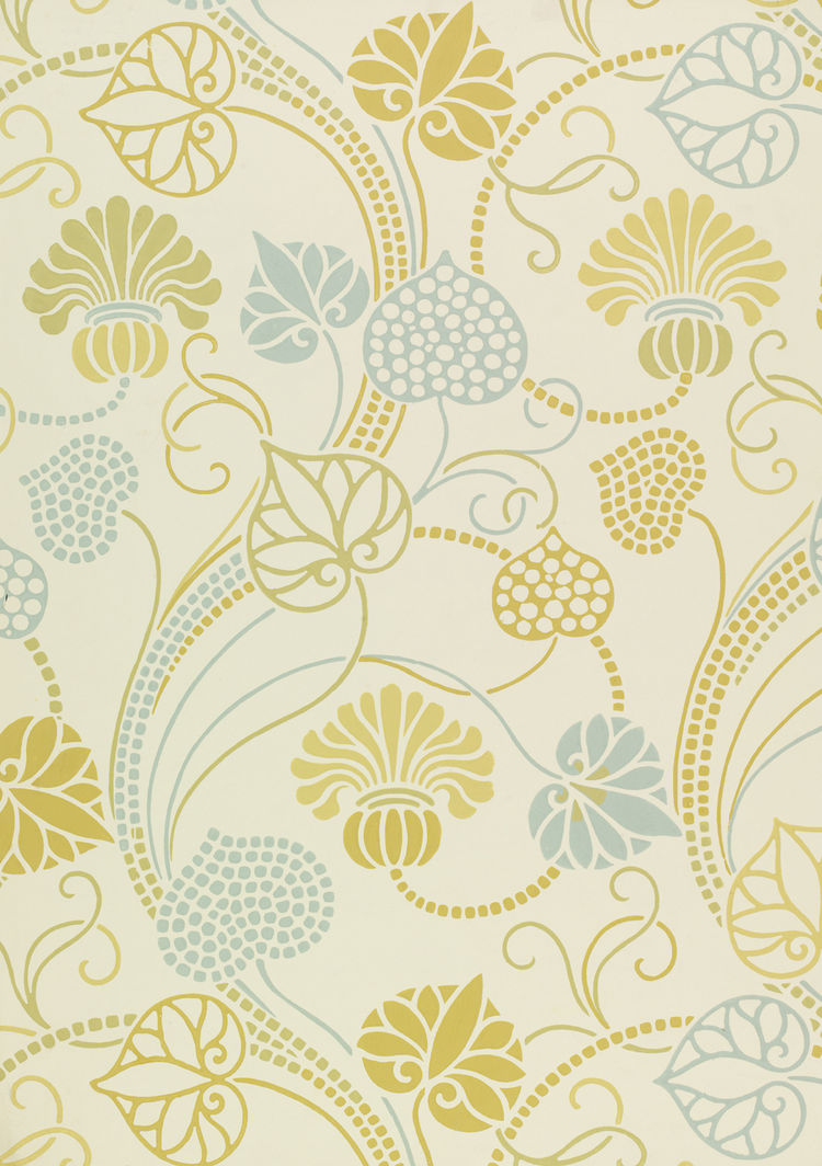 <i>Memphis</i>, wallpaper. Lewis Foreman Day/Jeffrey & Co. Color machine print on paper. UK, c. 1887-1900 (V&A: E.23131-1957). From <i>V&A Pattern Series II: Garden Florals</i> published by V&A Publishing and Abrams Books.