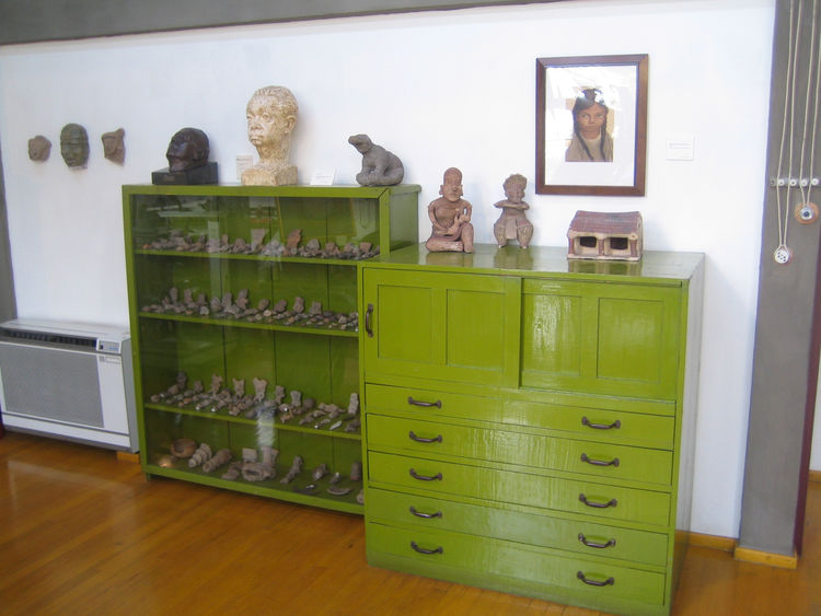 These beautiful green chests held loads of ceramics, some of which appeared to be pre-Hispanic.