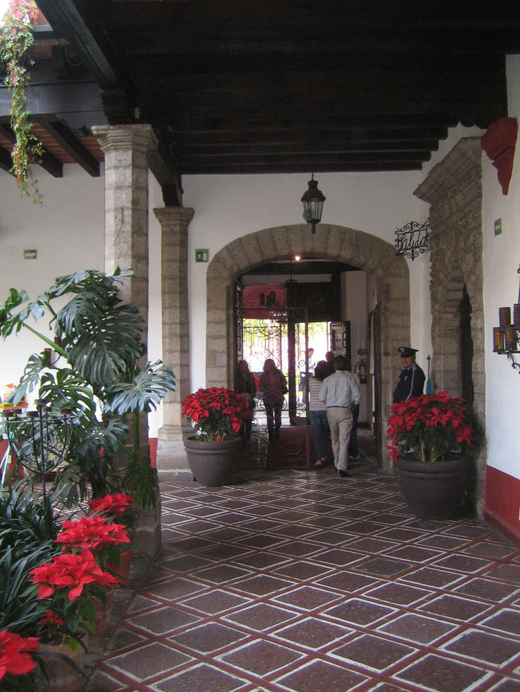 The gorgeous hacienda was no slouch itself. Wandering around in search of the bathroom was never so exciting.