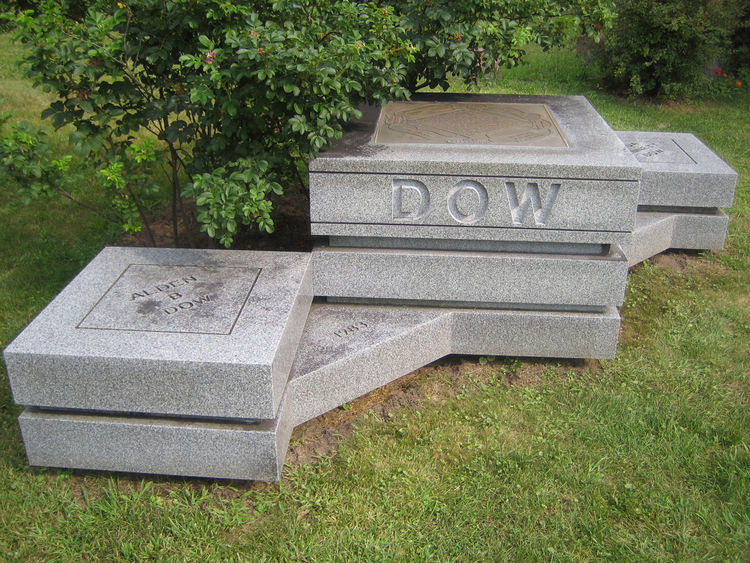 Fittingly, Alden and Vada Dow are buried in the local cemetery near Alden's parents.