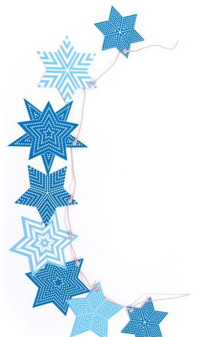 We like these geometric Star of David decorations from Polli.