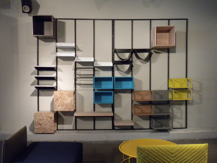 "The Montage modular shelving system by My and Thien for Domison is all about ""randomness and personalities."""