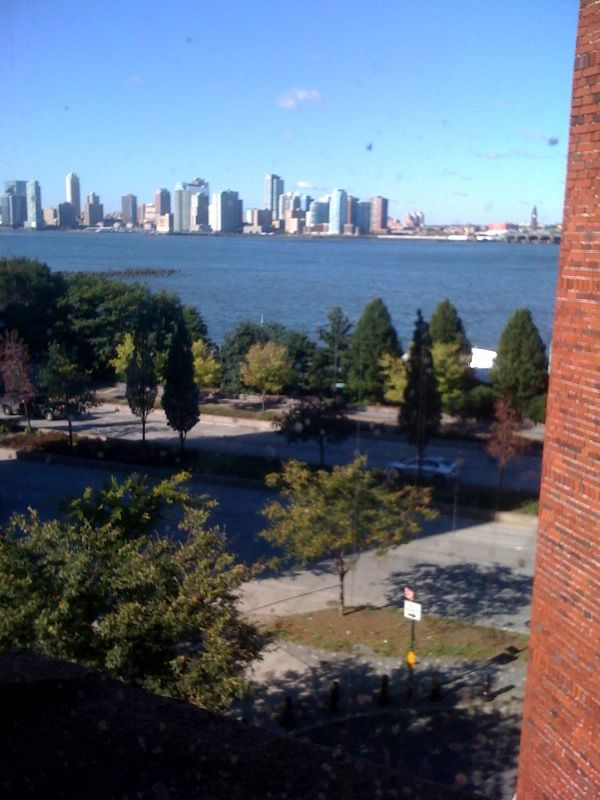 I woke up in my tiny room at the Jane Hotel, in the west village, to perfect September weather and a clear view to Jersey.