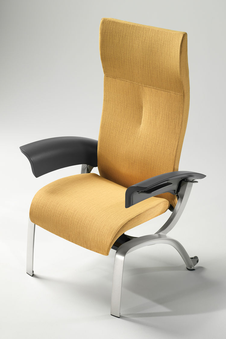"<a href=""http://www.dcontinuum.com/content/"">Continuum</a>, a design consultancy firm that works with companies such as Reebok and Procter and Gamble, was named one of the Product Design Award finalists. Pictured here is the Nala Recovery Chair for Herman"