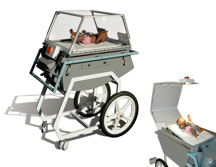 Car-parts Incubator, prototype. Timothy Prestero (American, b. 1970), Design that Matters, Inc. Client: Center for Integration of Medicine and Innovative Technology, Global Health Initiative. United States and Nepal, 2008–present. Rendering: Design that M