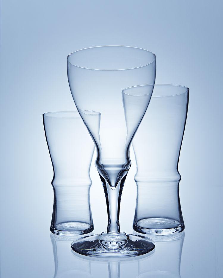 Gripp Glasses. Karin Eriksson (Swedish, b. 1983), Karinelvy Design. Manufactured by Skrufs Glassworks. Sweden, 2008–2009. Blown glass. Photo: Karin Eriksson