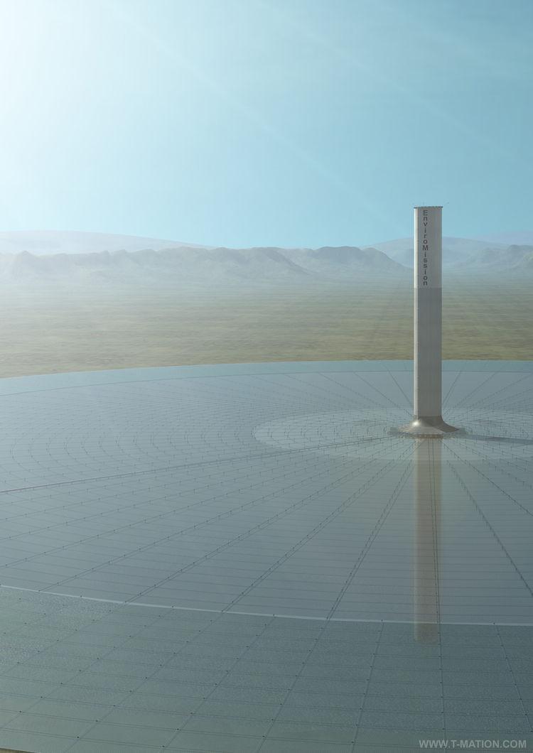 Hope Solar Tower. EnviroMission Ltd.; concept: Jorg Schlaich (German, b. 1934), Schlaich Bergerman & Partner. Manufactured by EnviroMission Ltd. Designed Australia, 2005-present. Rendering: EnviroMission Ltd.