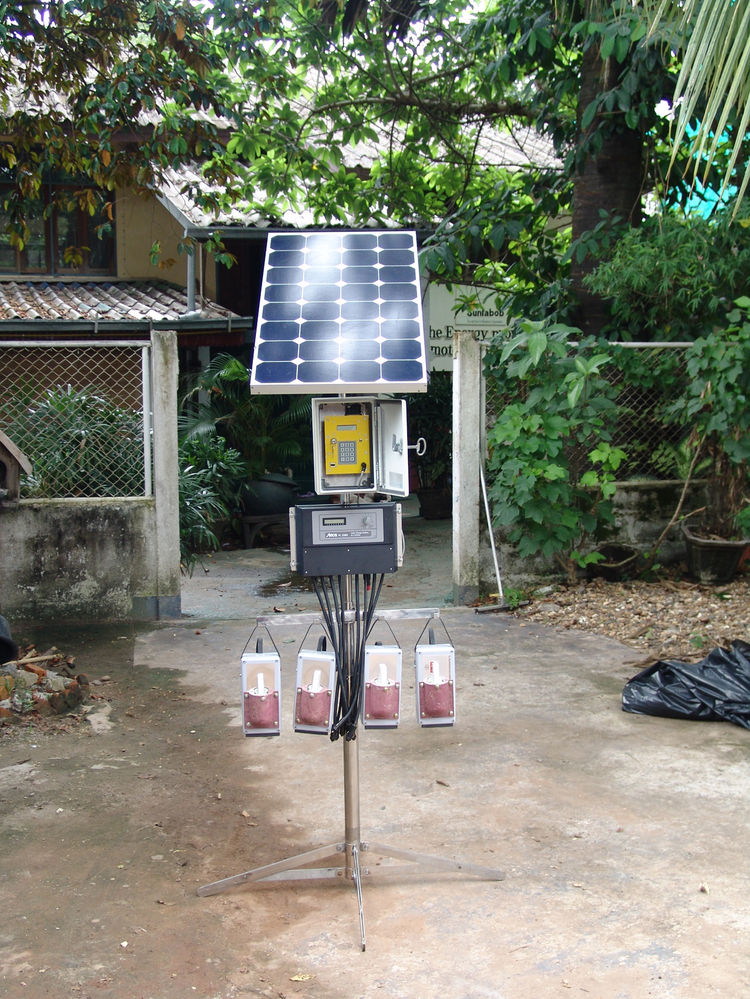 Solar Rechargeable Battery Lanterns. Nishan Disanayake (Sri Lankan, b. 1982), Simon Henschel (German, b. 1981), and Egbert Gerber (German, b. 1974), Sunlabob Renewable Energy Co. Ltd. Clients: TSSD Uganda and USAID Afghanistan. Laos, 2007–present. Plastic