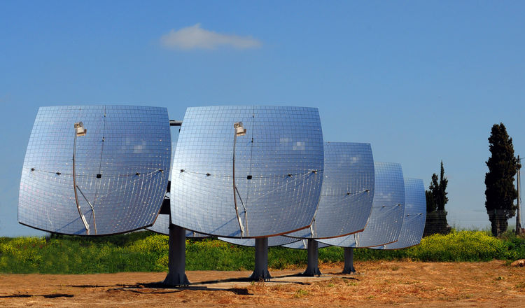 Z-10 Concentrated Solar-Power System. Ezri Tarazi (Israeli, b. 1962) and Ori Levin (Israeli, b. 1978), Tarazi Studio. Manufacturer and client: ZenithSolar. Israel, 2009. Polypropylene, mirror glass, stainless steel, photovoltaic components, ceramics, copp