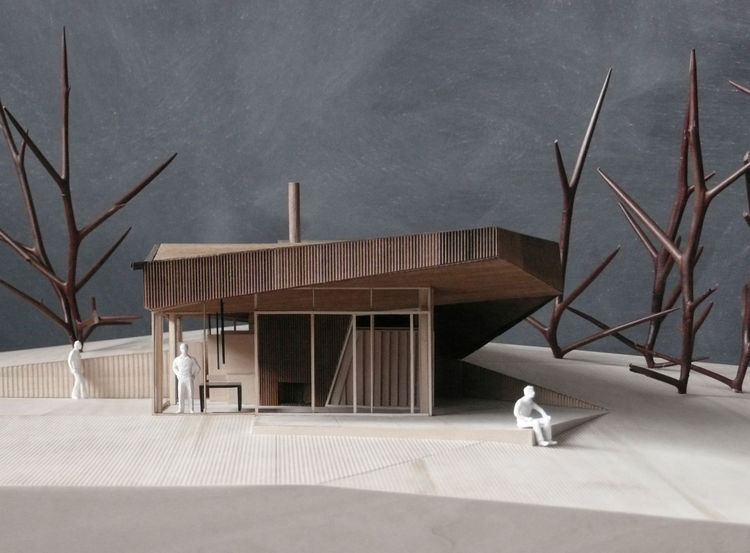 "The WPC invitations were sent to three American and three Canadian design firms. Among the invitees was <a href=""http://www.saucierperrotte.com/"">Saucier + Perrotte Architects</a>, based in Montreal, Quebec, whose model for a cottage is shown here."