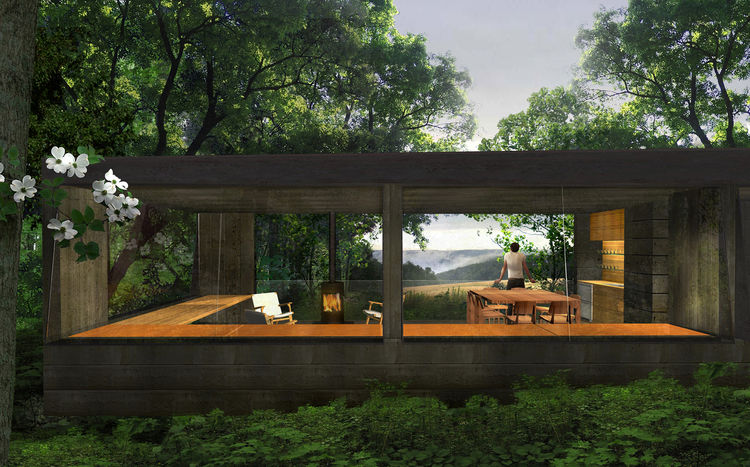 "The judges applauded Wendell Burnette Architect's design for its relationship to the landscape, noting ""each cottage is quiet, modest but important in its conversation with nature. The architecture is not deferential, but respectful."""