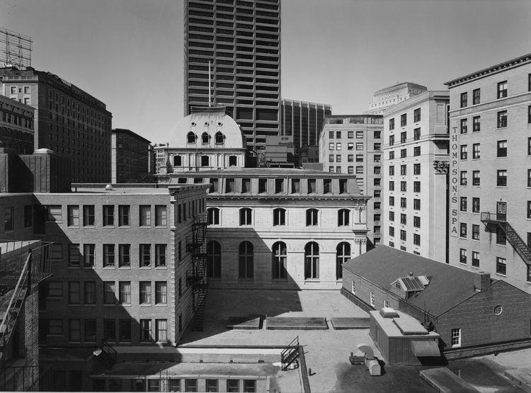 Nicholas Nixon (American, b. 1947), <i>Buildings on Tremont Street, Boston</i>, 1975; George Eastman House collections; © Nicholas Nixon